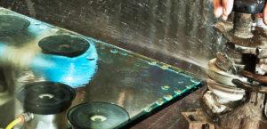 Обработка (полировка) кромки стекла