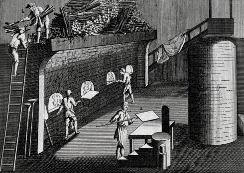 Производство зеркал в средние века