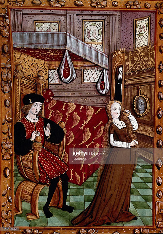 Изображение зеркала, XV век, Франция